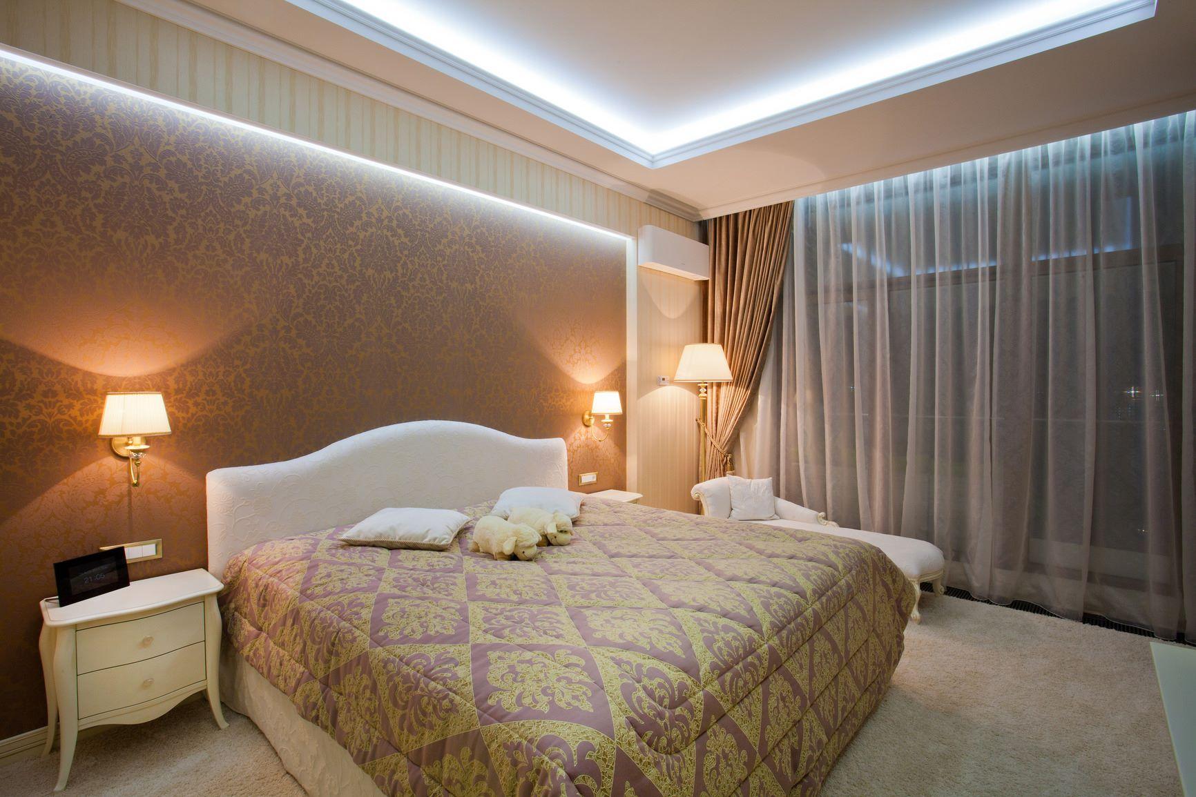 написать рекомендации освещение в спальне без люстры фото ведь может
