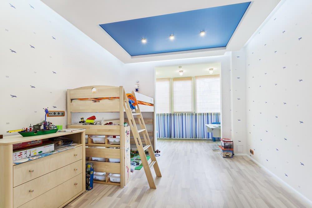 Двухуровневый потолок в детской