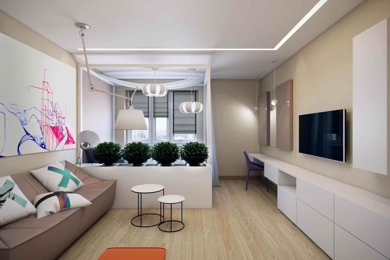 Перегородка в однокомнатной квартире