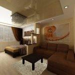 Перегородка для зонирования спальни и гостиной