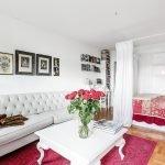Зонирование однокомнатной квартиры текстилем