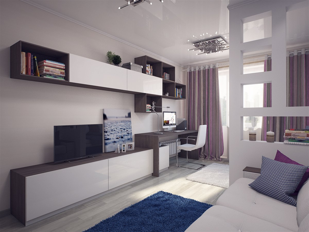 Зал спальня дизайн фото