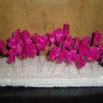 Мелкие цветы из фарфора