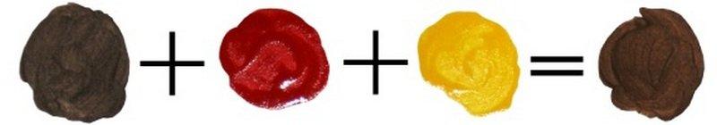 Красный, желтый и коричневый