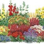 Схема сада с цветником