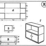 Схема картонной мебели