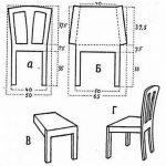 Макет стула из картона