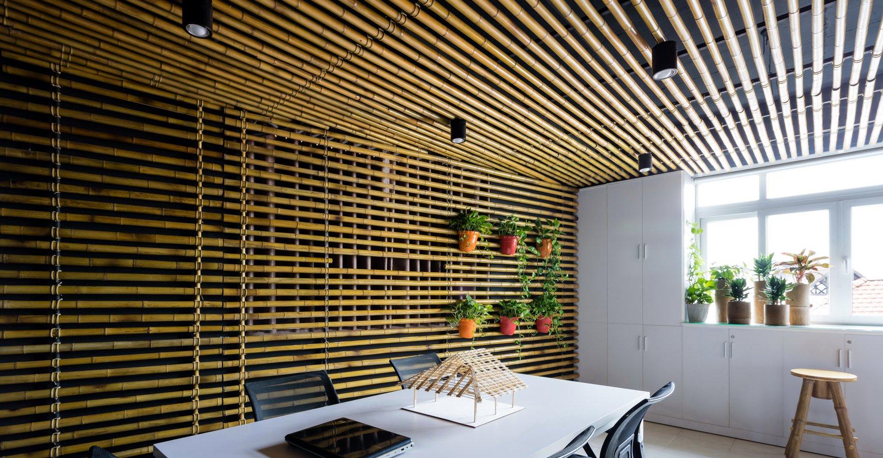Отделка кухни бамбуком
