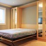 Разложенная кровать