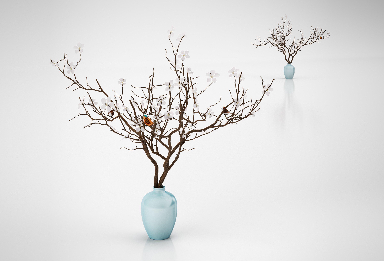 Декоративное дерево из веточек