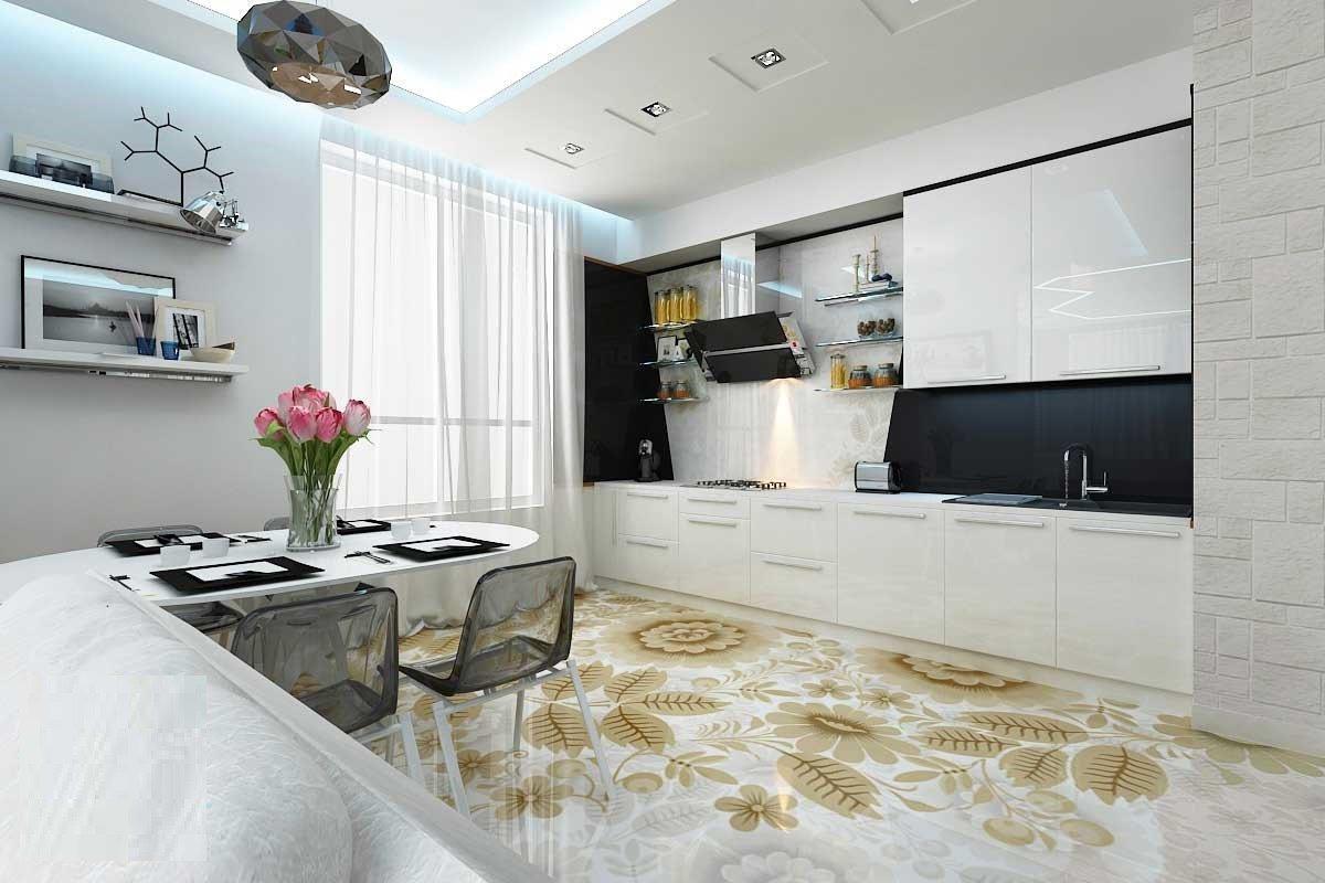 Наливные полы на кухню