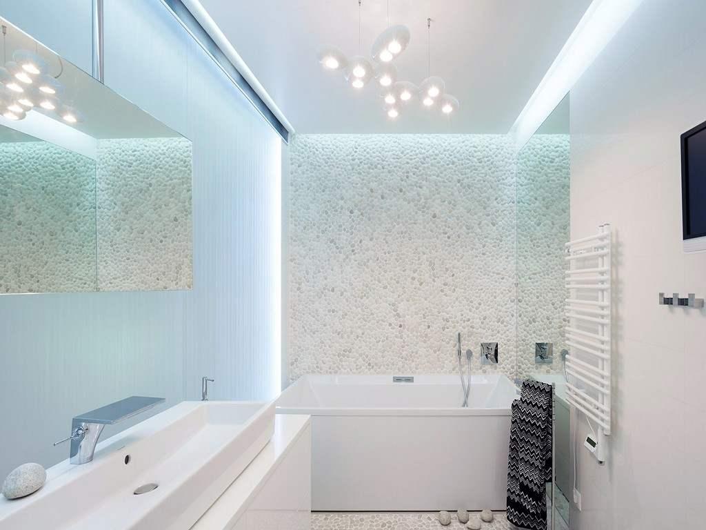 Дизайн интерьере белой ванной