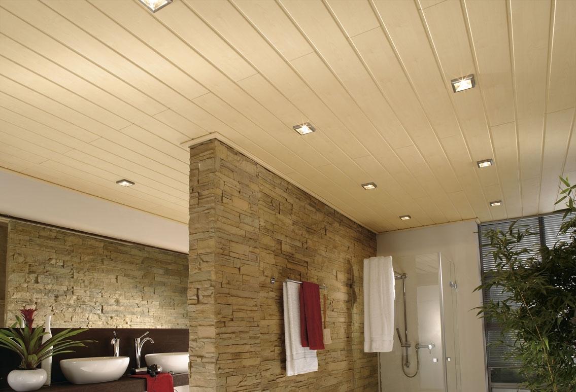 Потолок из ПВХ в ванной