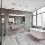 Серый в интерьере ванной