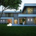 Двухэтажный дом с плоской крышей