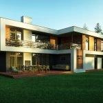 Дом с открытой верандой