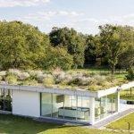 Плоская крыша с травой