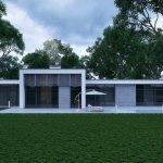 Дом с лужайкой