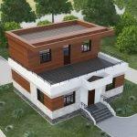 Современный каркасный дома