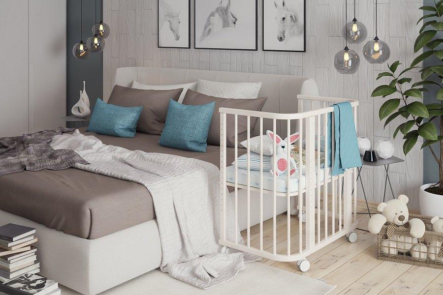 Приставная детская кровать