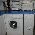 Стиральная машинка в кухне 6 кв.м