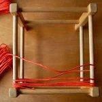 Наматываем веревку на рейки рамы