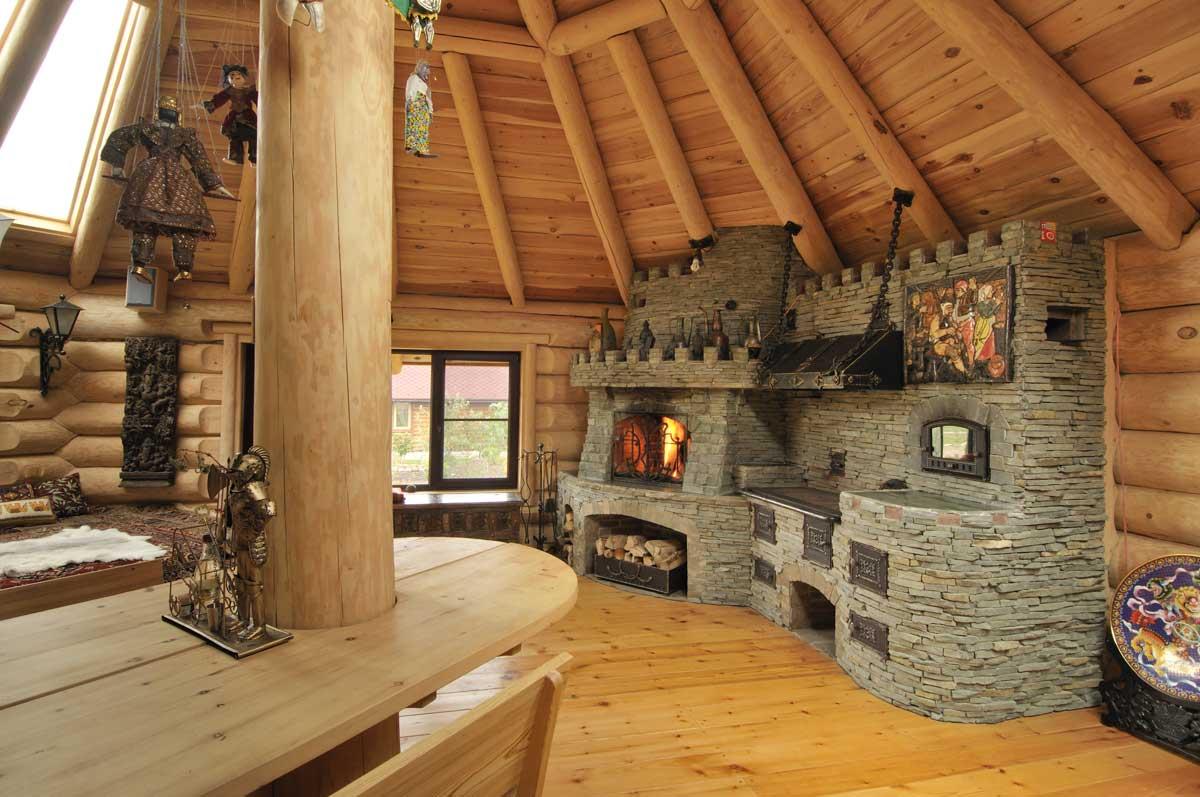 Отделка печей каминов в деревянном доме фото строгом