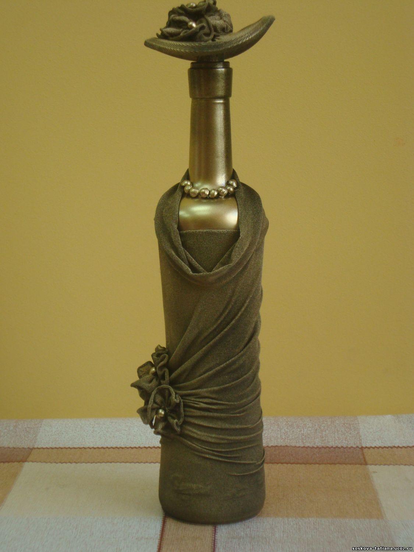 Декор на бутылке
