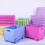 Деревянные ящики для игрушек