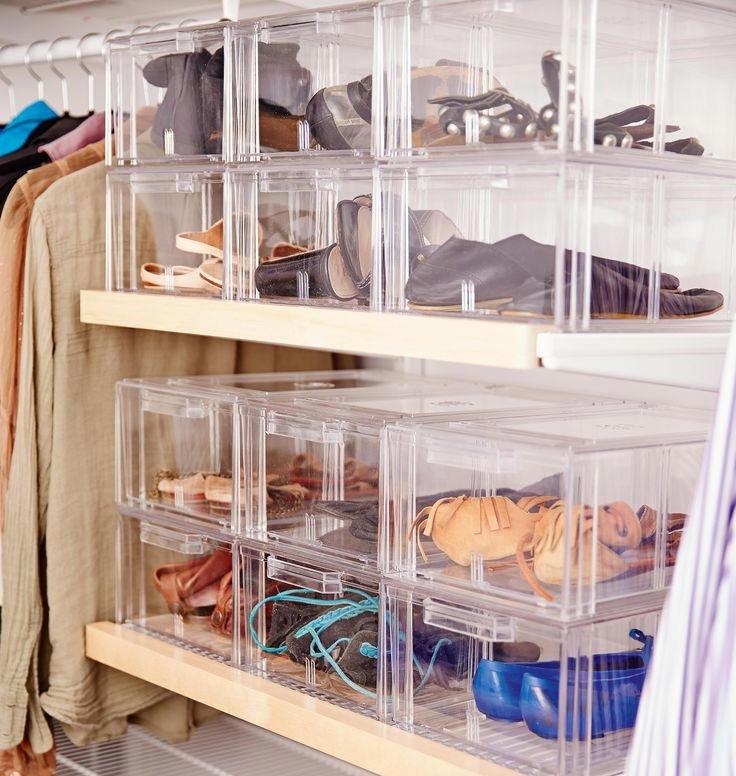 Хранение обуви в пластиковом контейнере