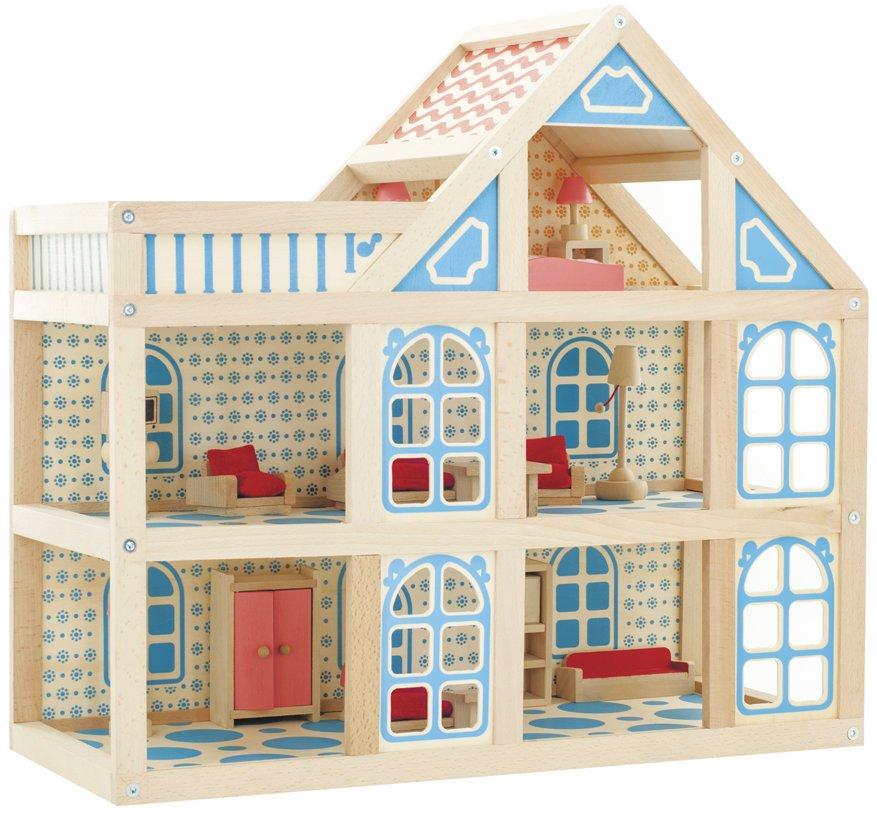 Двухэтажный игрушечный домик