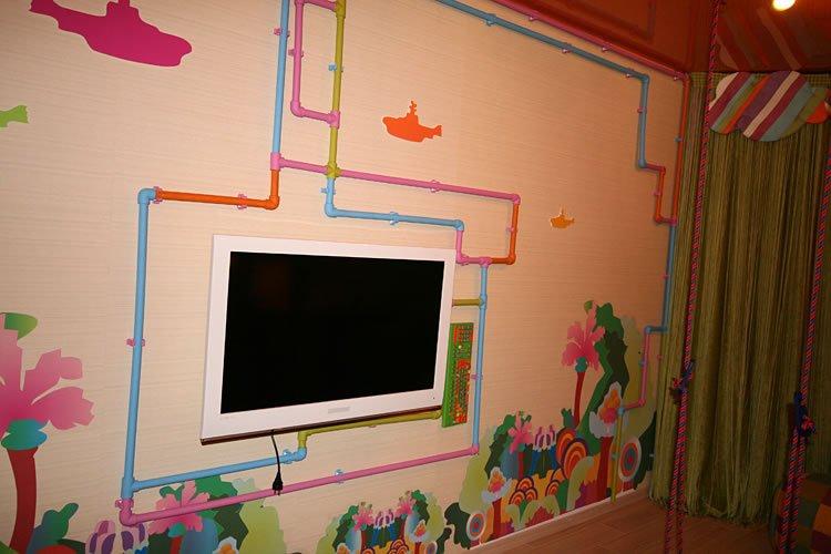Декор труб в детской комнате