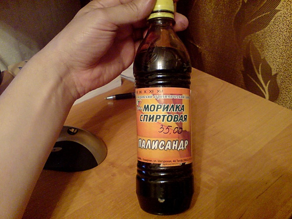Морилка на спиртовой основе