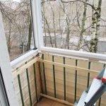 Обрешетка на балконе