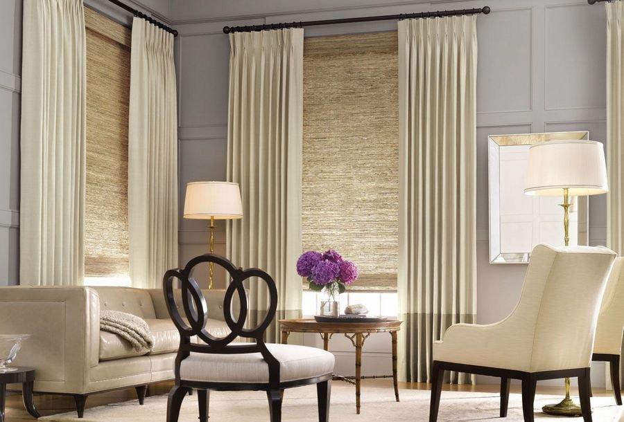 75 идей декора и оформление окон шторами и другие варианты