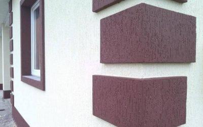 Отделка фасада дома короедом