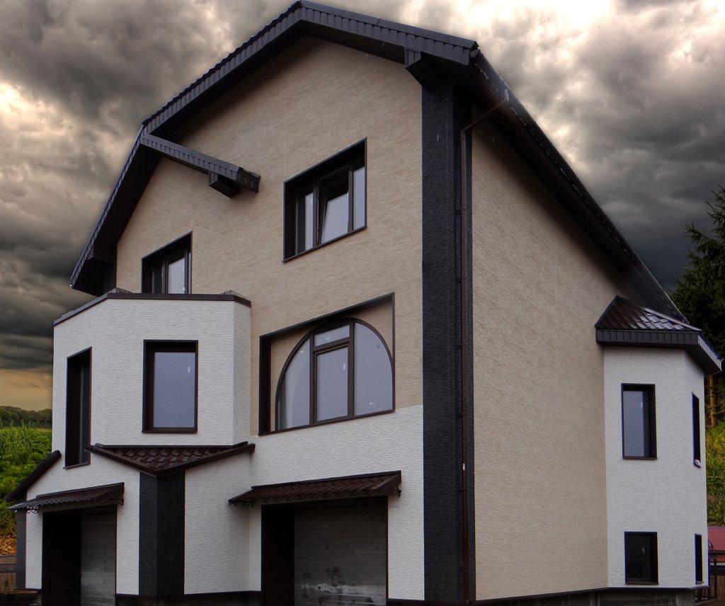 Отделка фасада домов картинки