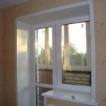 Отделка окна на балкон