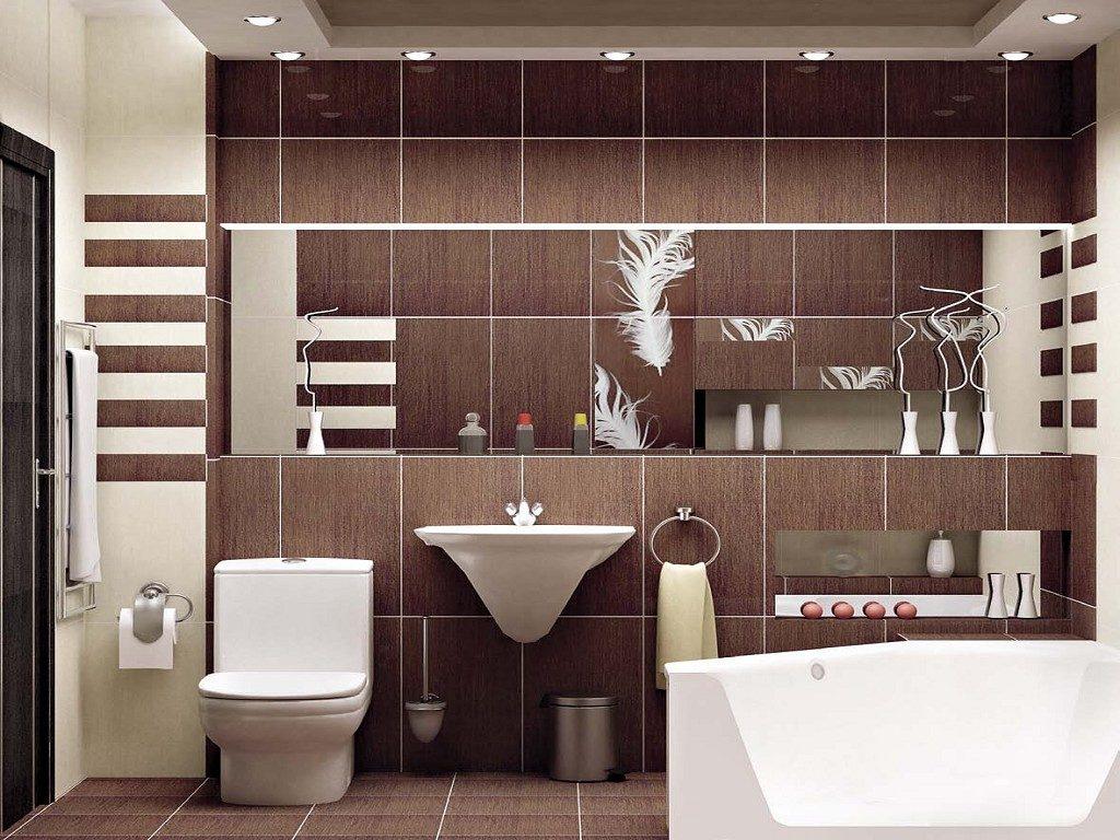 Коричневый в интерьере ванной