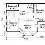 Дом 6 на 6 планировка