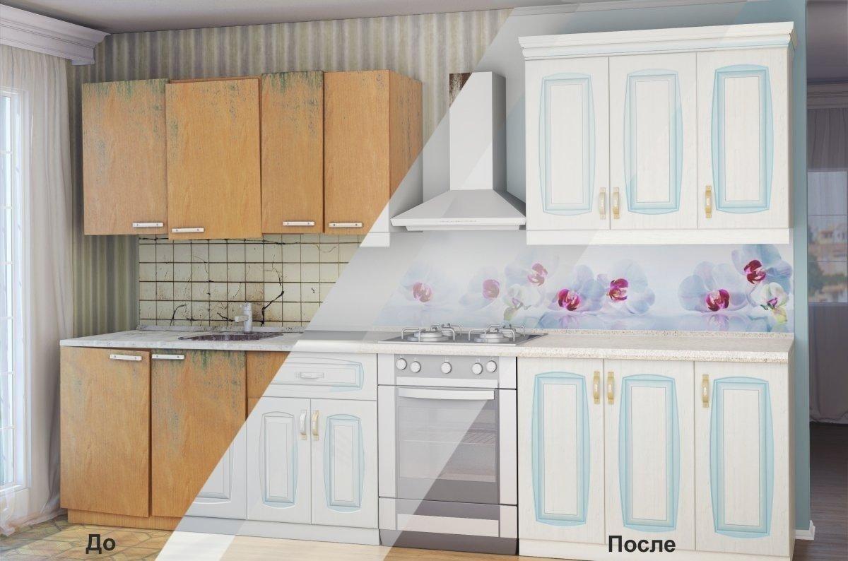 Кухня до и после покраски
