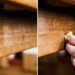 Удаление царапин орехом