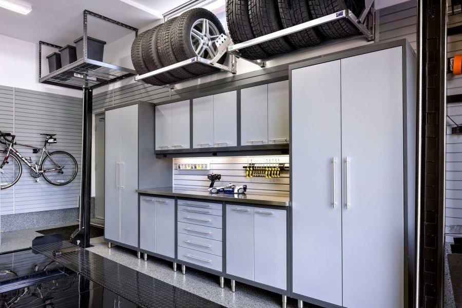 Полки и шкафы в гараже