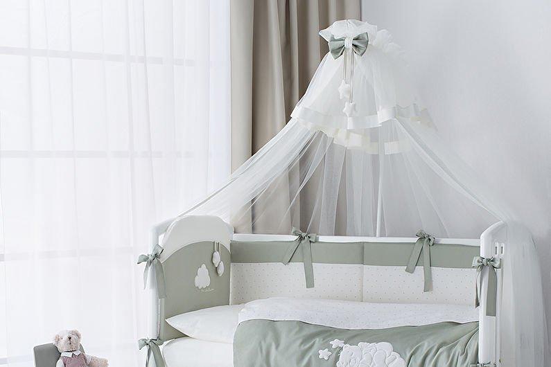 Самодельный балдахин для детской кроватки