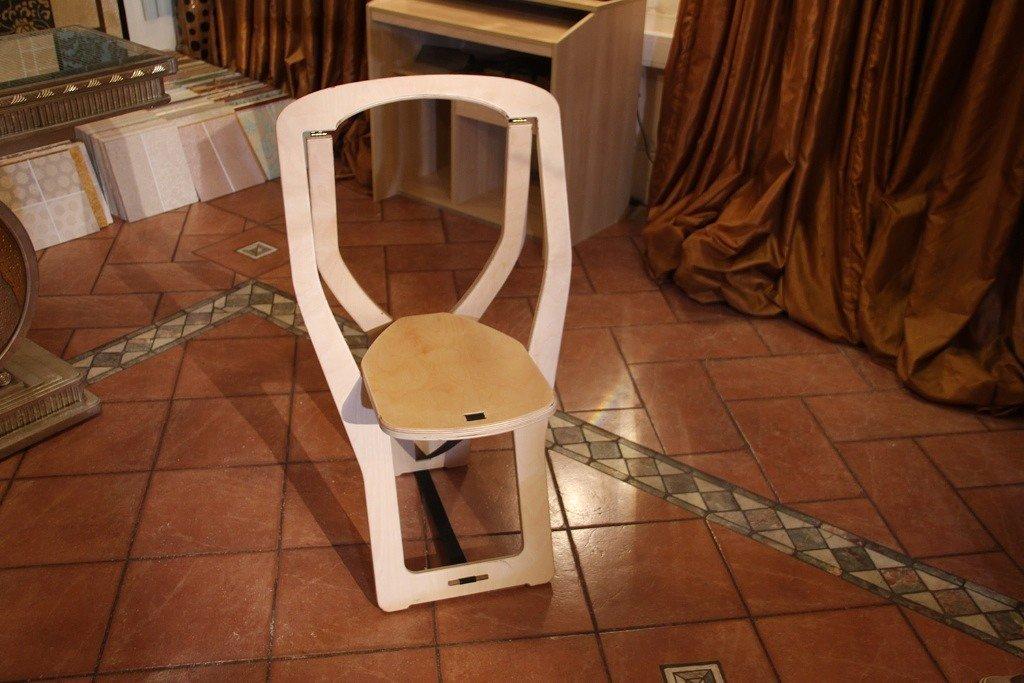 Раскладной детский стул из фанеры