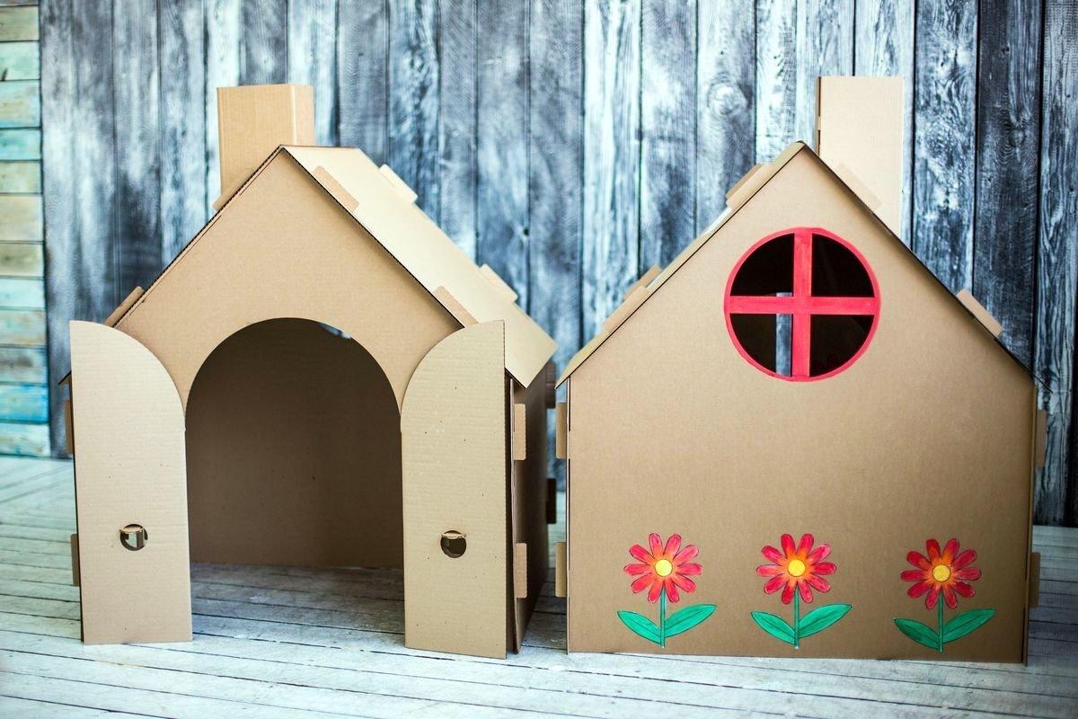 Декор картонного домика