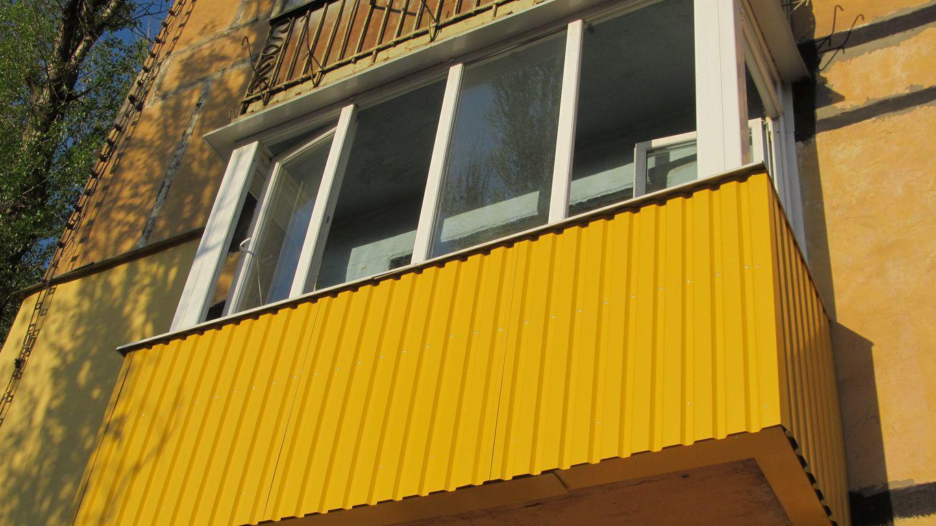 Наружная покраска балкона