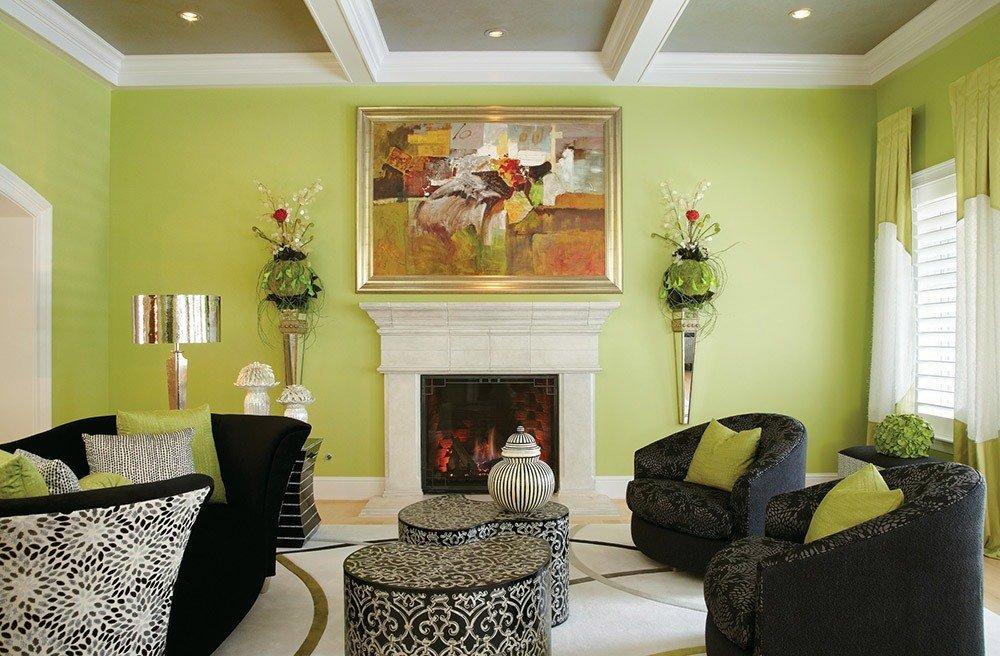 Стены спокойного цвета в интерьере
