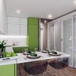 Интерьер кухни в фисташковом цвете