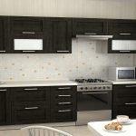 Дизайн интерьера линейной кухни